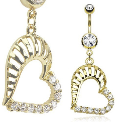 Piercing - Luxury Gold Double Heart