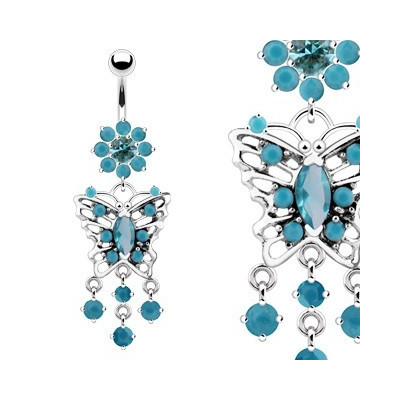 Pearcing - Turquoise Butterfly